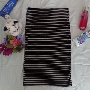 F21 Stripes Ribbed Skirt Small